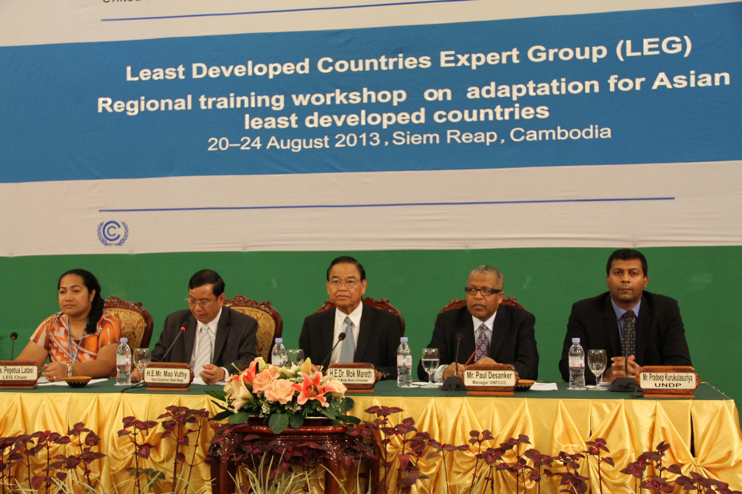 LDCs meeting at Siem Reap August 2013