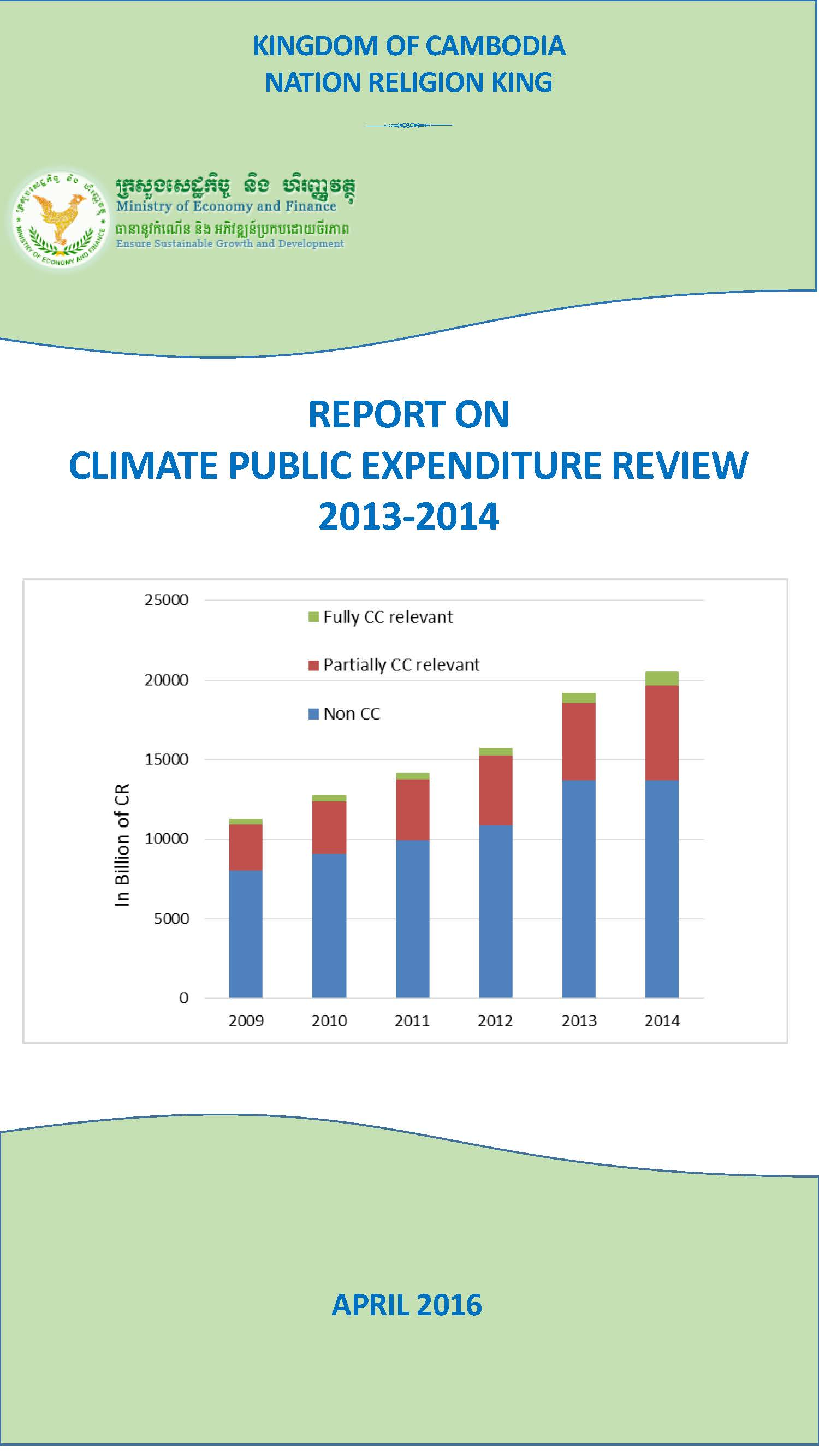 Report on CPER 2013 2014 Cover page